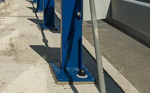 Ukončení výztužné tyče svodidla MS4-1/H2