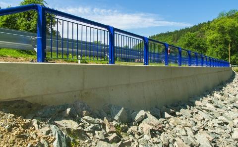 Pilské údolí - opěrná zeď